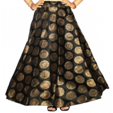 Brocade fabric skirts/lehenga for womens and girls-154