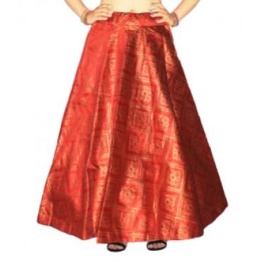 Brocade fabric skirts/lehenga for womens and girls-155