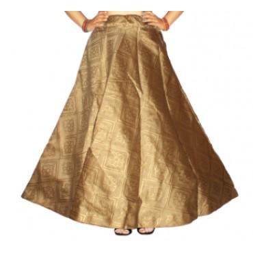 Brocade fabric skirts/lehenga for womens and girls-157