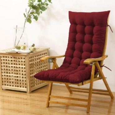 Cloudy Throne Microfiber Long Rocking Chair Cushion Pad - (51x19 Inches/Maroon)