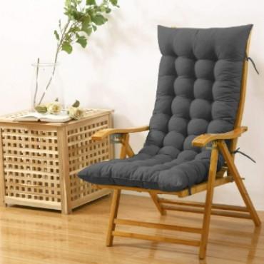 Cloudy Throne Microfiber Long Rocking Chair Cushion Pad - (51x19 Inches/Grey)