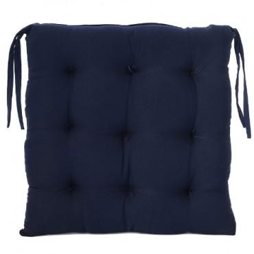 Square Chair Pad Seat Cushion Car Pad Office Chair Pad Stool Cushion Cotton Chair Pad 16 inch X 16 Inch -Blue
