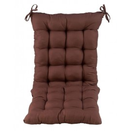 Chair Cushions Chair Pad Back & Seat Cushion for Multipurpose Use (Pack of 1,with Ties,No Chair Included,Only Cushion) (16 x 21 + 16 x 16 Inches (Two Stitched in One), Brown)