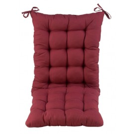 Chair Cushions Chair Pad Back & Seat Cushion for Multipurpose Use (Pack of 1,with Ties,No Chair Included,Only Cushion) (16 x 21 + 16 x 16 Inches (Two Stitched in One), Maroon)