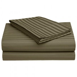 300 TC Superior 100% Cotton Solid Satin Plain Double Queen Size Bedsheet with 2 Pillow Covers_Size-90X100 Inch