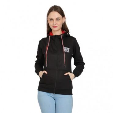 black Full Sleeve Women Sweatshirt