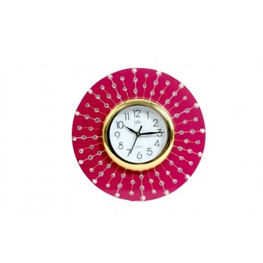 Pink Pearl round wall clock