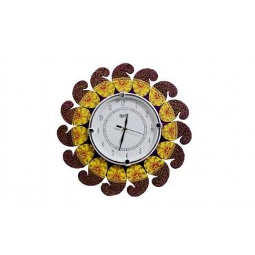 Blue design carry butta Handpainted wall clock
