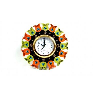 Heart Handpainted wall clock