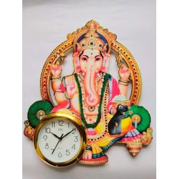 Aashirwad  chuha Ganesha wall printing clock
