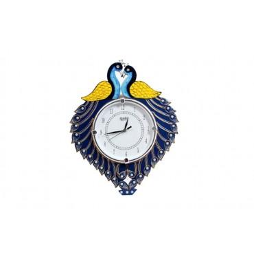 Cople peacock3 Handpainted wall clock