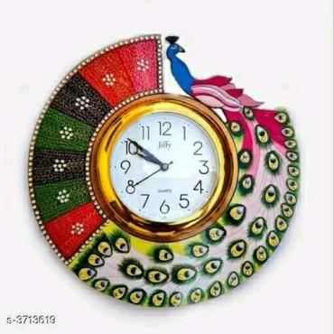 Challapati peacock wall clock printed wall clock