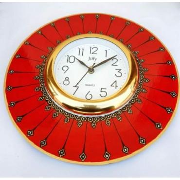 Round Handpainted wall clock