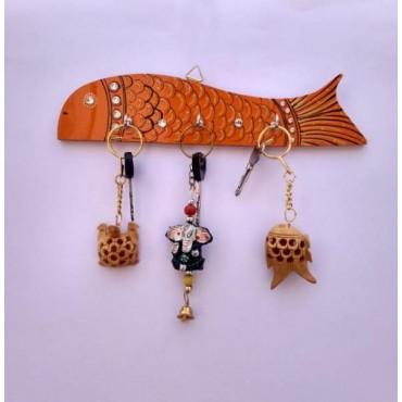 Orange fish kids key hanger