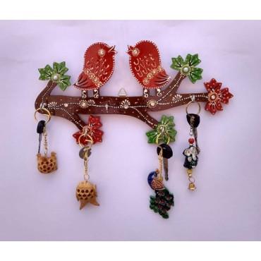 Sprrow Handpainted key hanger