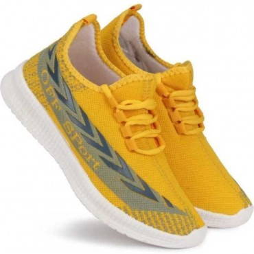 Casual sneakers and loafers shoes  Running Shoes For Men  (Yellow)