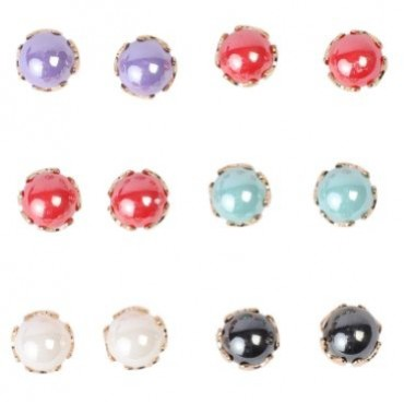 NFI essentials Multicolour Metal Earrings for Women -Set of 6 Pair