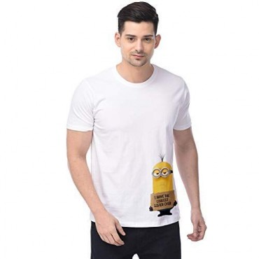 Graphic Printed Round Neck Half Sleeves Regular Fit T - Shirts for Minion Coolest Sister Merchandise for True Fans-White