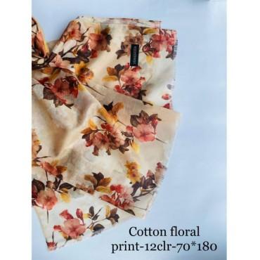 cotton Big Florals print hijabs