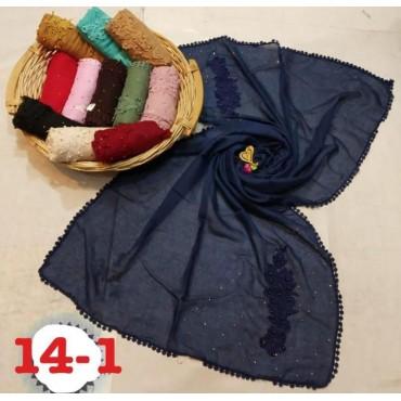 Fancy designer lace hijab