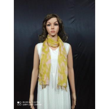 beautiful chiffon printed scarf with tassel