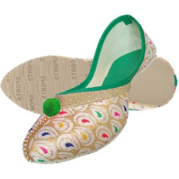 bellies (flat) jaipuri/ Designer Jutti/Mojari/Bellies for women and girls