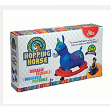 Blue Plastic 3 In 1 Hopping Ride