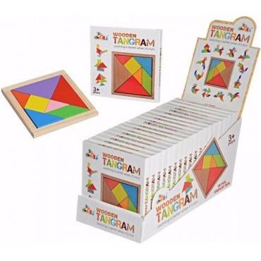 3-7 wooden Tangram Toy, For School/Play School