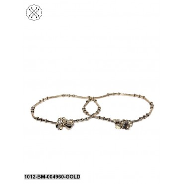 Antique Gold-Plated Anklets