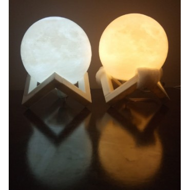 (pack of 2) Trendy custom  Moon shape image night lamp for any occasion gifts