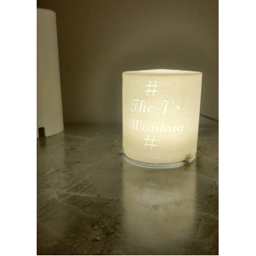 Costomize Cylendrical shaped night lamp (10cm)