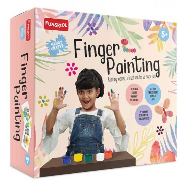 Funskool - Handycrafts Finger Painting, Creative and Fun Paint Set, 5 Years Above