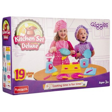 Giggles - 9785500 Kitchen Set Deluxe, Multi Color
