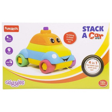 Giggles - 1073300 Stack a Car, Multi Color