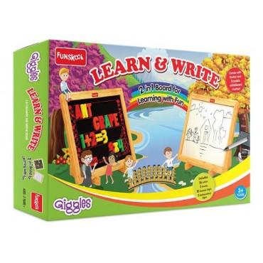 Funskool-Giggles Learn & Write 2 in 1 Magnetic & Writing Board,Multicolor