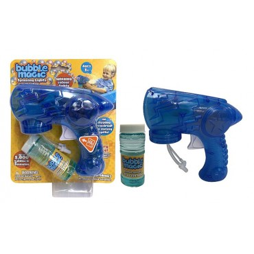 Bubble Magic Spinning Light Blaster for Kids Age 3 and Up