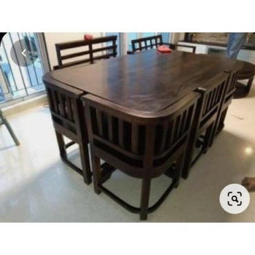 <h3><strong>6 Seater Wooden Dining Table Set</strong></h3><br> <p>     </p>        <p>Delivery charges will be applicable</p>