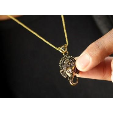 Ganpati Gold god pendant Locket with chain for men / women
