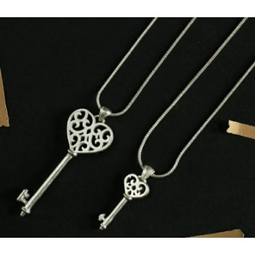 2 set Ganpati silver key pendant Locket with chain for men / women