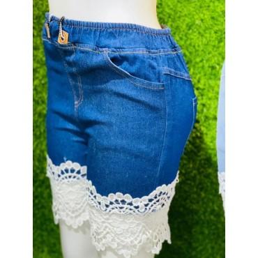 Women's Denim Slim Fit Shorts
