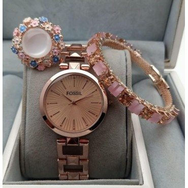 Bracelet and Watch combo For Women and Girls
