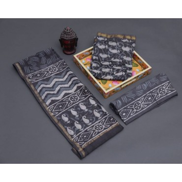 <h3><strong>Chanderi silk suits with chanderi dupatta and cotton bottom</strong></h3><br> <p>   </p>      <p>this product will be not returnable</p>