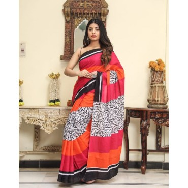 <h3><strong>Cotton printed sarees with blouse piece</strong></h3><br> <p>   </p>      <p>this product will be not returnable</p>