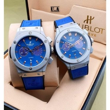 <h3><strong>BLUE DIAL STRAP CHRONOGRAPH Couple WATCH</strong></h3><br> <p>   </p>      <p>this product will be not returnable</p>