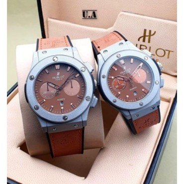 <h3><strong>BROWN DIAL STRAP CHRONOGRAPH Couple WATCH</strong></h3><br> <p>   </p>      <p>this product will be not returnable</p>