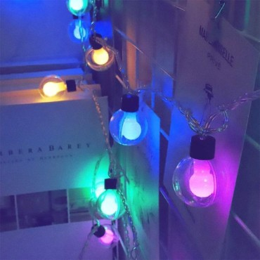 Brand World 10 LED Double Ball Decorative String Lights, 3 Meters Plug in Fairy Lights for Home Decoration (Multicolor)