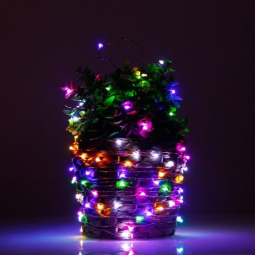 Brand World 10 Meters, Plug in Light- Wire LED String Lights for Bedroom Wedding Diwali Christmas Tree Decoration Lights, Waterproof (Multicolour) - Pack of 1