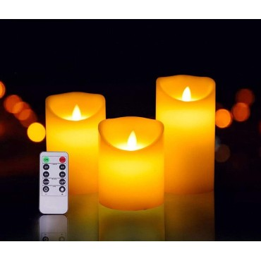 Brand World Color Changing Candles with Remote Control, Decorative Flameless LED Romantic Night Colour Changing Candle with Remote (3 Pc Set)