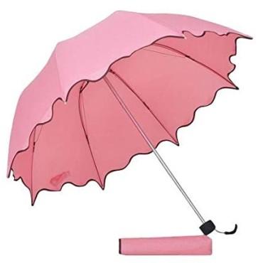 Purple Tree PVC and Metal Folding Umbrella