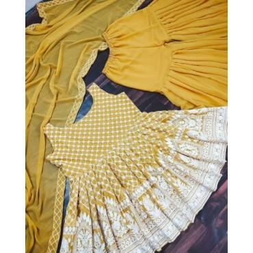 Georgette Sharara Salwar Suit for Women's